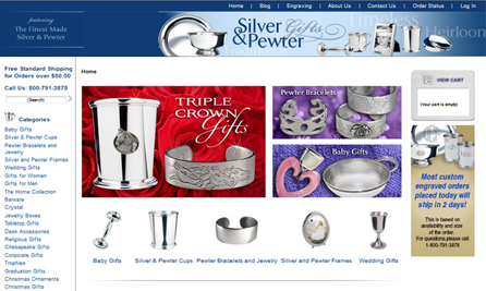 Интернет-магазин «Silver and Pewter Gifts»